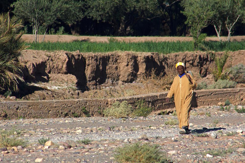 Africa, Morocco, Skoura. Local Villager of Skoura.