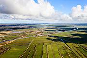 Nederland, Friesland, Gemeente Achtkarspelen, 28-02-2016; landschap ten oosten van Kloostertille. Caspar Robles- of Kolonelsdiep, onderdeel van Prinses Margrietkanaal.<br /> Canal Northeast of Leeuwarden Friesland.<br />  <br /> luchtfoto (toeslag op standard tarieven);<br /> aerial photo (additional fee required);<br /> copyright foto/photo Siebe Swart
