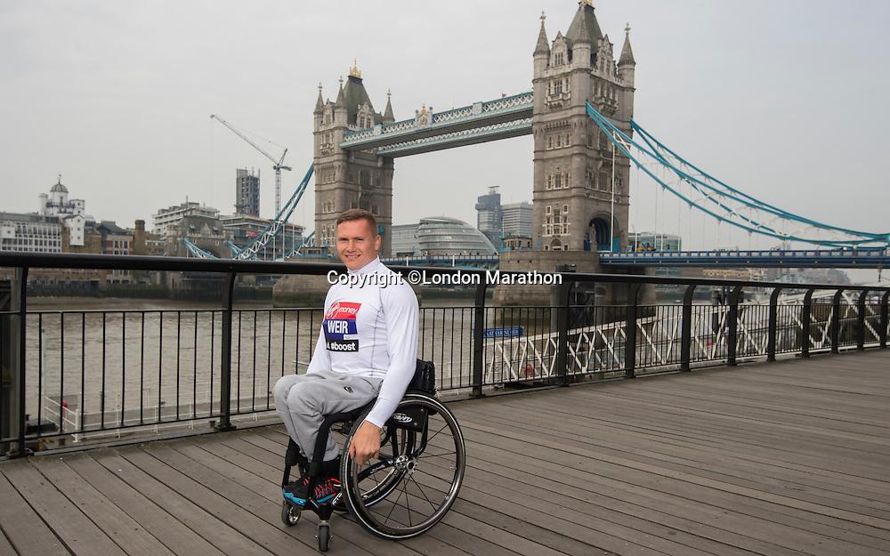 Virgin Money London Marathon 2015<br /> <br /> David Weir (UK) IPC Athlete competing in the IPC World Championships.<br /> Photo: Bob Martin for Virgin Money London Marathon<br /> <br /> This photograph is supplied free to use by London Marathon/Virgin Money.