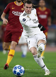 November 27, 2018 - Rome, Italy - AS Roma v FC Real Madrid : UEFA Champions League Group G.Gareth Bale of Real Madrid scores the goal of 0-1 at Olimpico Stadium in Rome, Italy on November 27, 2018. (Credit Image: © Matteo Ciambelli/NurPhoto via ZUMA Press)