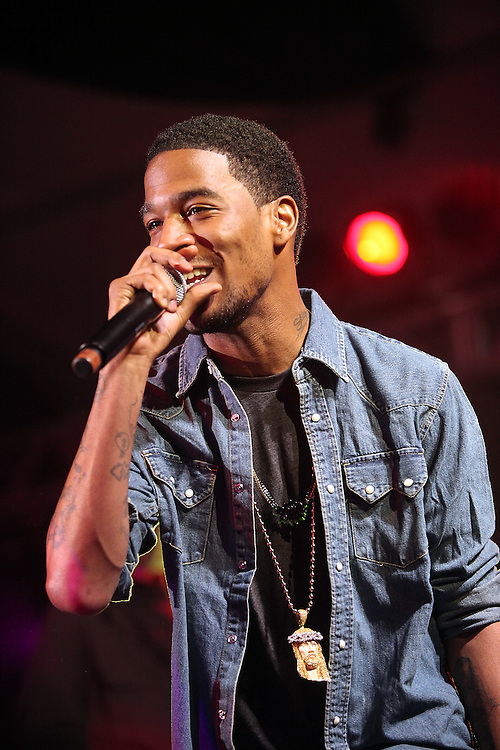 AUSTIN, TX - MARCH 21: Kid Cudi performs onstage at the 'G.O.O.D Music Showcase' at Levi's/Fader Fort on March 21, 2009 in Austin, Texas.