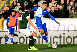 Jonson Clarke-Harris of Bristol Rovers is marked by Niall Canavan of Plymouth Argyle - Mandatory by-line: Ryan Hiscott/JMP - 01/12/2019 - FOOTBALL - Memorial Stadium - Bristol, England - Bristol Rovers v Plymouth Argyle - Emirates FA Cup second round