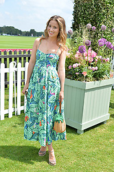 Kelly Eastwood at Cartier Queen's Cup Polo, Guard's Polo Club, Berkshire, England. 18 June 2017.<br /> Photo by Dominic O'Neill/SilverHub 0203 174 1069 sales@silverhubmedia.com