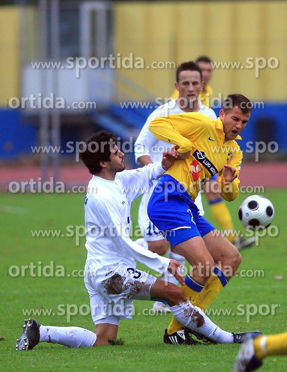 Jorge Ferreira and Dalibor Radujko at 20. round of PrvaLiga Telekom Slovenije 2008/2009 match between NK Luka Koper and NK Hit Gorica, on December 6, 2008,  in Stadium Bonifika, Koper, Slovenia. Koper won 3:1.(Photo by Vid Ponikvar / Sportida)