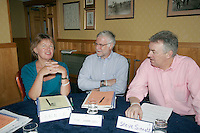 Annie Watson, TUC advisor on International Development; Tim Harrison, NUT Reg Sec; Steve Sinnott, NUT Gen Sec; at the IDUE Workshop..© Martin Jenkinson, tel 0114 258 6808 mobile 07831 189363 email martin@pressphotos.co.uk. Copyright Designs & Patents Act 1988, moral rights asserted credit required. No part of this photo to be stored, reproduced, manipulated or transmitted to third parties by any means without prior written permission