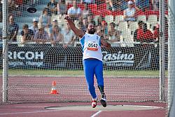 KYRIAKIDIS Miltiadis, GRE, Discus, F44, 2013 IPC Athletics World Championships, Lyon, France