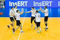 09.01.2016, Max Schmeling Halle, Berlin, GER, CEV Olympia Qualifikation, Deutschland vs Russland, im Bild des deutschen Teams // during 2016 CEV Volleyball European Olympic Qualification Match between Germany and Russia at the Max Schmeling Halle in Berlin, Germany on 2016/01/09. EXPA Pictures © 2016, PhotoCredit: EXPA/ Eibner-Pressefoto/ Wuechner<br /> <br /> *****ATTENTION - OUT of GER*****