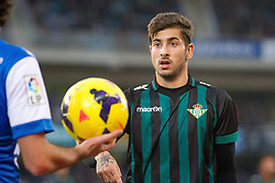 15.12.2013, Anoeta Stadium, San Sebastian, ESP, Primera Division, Real Sociedad vs Real Betis, 16. Runde, im Bild Betis' Alvaro Vadillo // Betis' Alvaro Vadillo during the Spanish Primera Division 16th round match between Real Sociedad and Real Betis at the Anoeta Stadium in San Sebastian, Spain on 2013/12/15. EXPA Pictures © 2013, PhotoCredit: EXPA/ Alterphotos/ Mikel<br /> <br /> *****ATTENTION - OUT of ESP, SUI*****