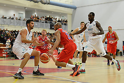 Cardell McFarland of Bristol Flyers  - Mandatory byline: Dougie Allward/JMP - 07966 386802 - 19/09/2015 - BASKETBALL - SGS Wise Campus - Bristol, England - Bristol Flyers v Surrey Scorchers - British Basketball League