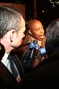 State Senator Eric Adams at Sylvia's Restuarant, where a gathering of Influential African-American Politicians called by Rev. Al Sharpton,  decide resolution of the fate of Governor David Patterson on March 4, 2010 in Harlem, New York City