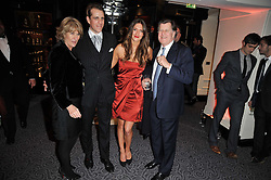 Left to right,ANNABEL ELLIOT, BEN ELLIOT, MARY-CLARE WINWOOD and SIMON ELLIOT at Quintessentially's 10th birthday party held at The Savoy Hotel, London on 13th December 2010.