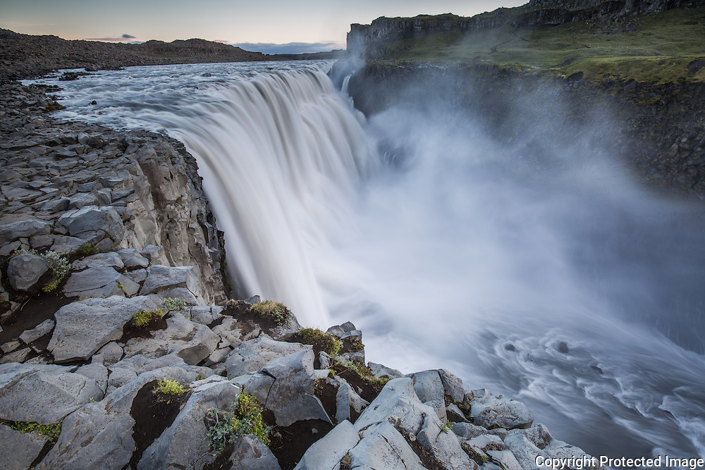 Dettifoss is locet in Vatnajokull national park, in north Iceland. Known as the most powerfull waterfall in Europe.