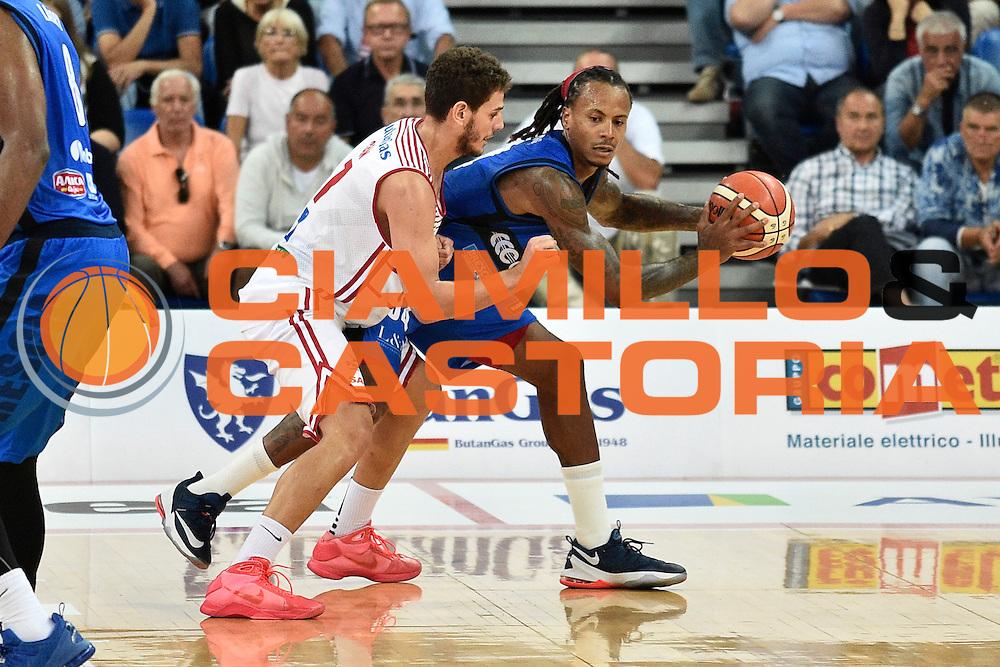 Moos David<br /> Consultinvest Pesaro - Germani Basket Brescia<br /> BASKET Serie A 2016 <br /> Pesaro 02/10/2016 <br /> FOTO CIAMILLO