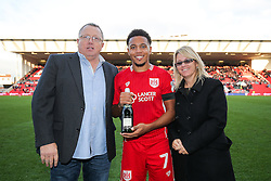 Man of the Match presentation to Korey Smith after Bristol City win 1-0 - Rogan Thomson/JMP - 22/10/2016 - FOOTBALL - Ashton Gate Stadium - Bristol, England - Bristol City v Blackburn Rovers - Sky Bet EFL Championship.