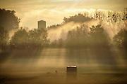 Le mesnil le roi, paysage, brume, soleil, lumière