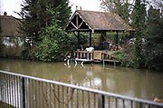 Maidenhead, United Kingdom.  General View, small open car port[ Dutch Barn]. Raymill Island banks of the River Thames. <br /> <br /> Friday  03/02/2017 <br /> <br /> © Peter SPURRIER,<br /> <br /> Leica Camera AG  LEICA M (Typ 262)  1/250 sec.  mm 1.7 100 ISO.  27.6MB