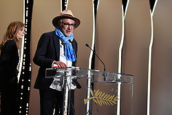 Palestinian film director and actor Elia Suleiman on May 25, 2019 with the Special Jury Prize during the closing ceremony of the 72nd edition of the Cannes Film Festival in Cannes, southern France. Photo by David Niviere/ABACAPRESS.COM