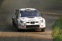 MOTORSPORT - WORLD RALLY CHAMPIONSHIP 2010 - NESTE OIL RALLY FINLAND / RALLYE DE FINLANDE - JYVASKYLA (FIN) - 29 TO 31/08/2010 - PHOTO : FRANCOIS BAUDIN / DPPI - <br /> MADS ÖSTBERG / JONAS ANDERSSON - ADAPTA MOTORSPORT SUBARU IMPREZA WRC - ACTION