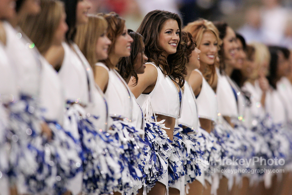 Indianapolis Colts cheerleaders seen during the Colts vs Raiders game.