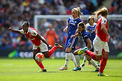 Danielle Carter of Arsenal Ladies plays the ball forward - Mandatory byline: Jason Brown/JMP - 14/05/2016 - FOOTBALL - Wembley Stadium - London, England - Arsenal Ladies v Chelsea Ladies - SSE Women's FA Cup
