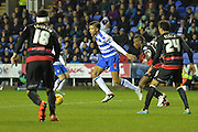 Reading's Michael Hector working his way through the QPR defence during the Sky Bet Championship match between Reading and Queens Park Rangers at the Madejski Stadium, Reading, England on 3 December 2015. Photo by Mark Davies.