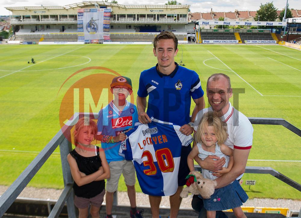 Bristol Rovers' Tom Lockyer has his photo taken with fans - Photo mandatory by-line: Dougie Allward/JMP - Mobile: 07966 386802 27/07/2014 - SPORT - FOOTBALL - Bristol - Bristol Rovers - - Memorial Stadium - Fun Day