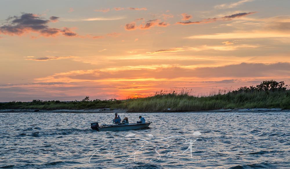 Boaters fish in Bayou La Batre, Ala. near the Bayou La Batre State Docks, June 17, 2013. (Photo by Carmen K. Sisson/Cloudybright)