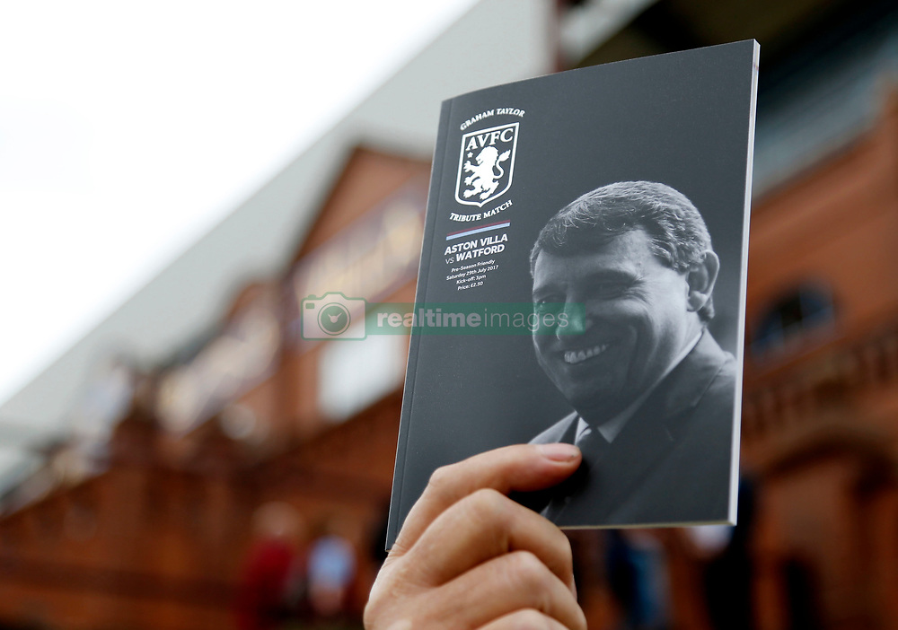 General view of the matchday programme before the Graham Taylor tribute match at Villa Park, Birmingham.