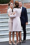 Queen Letizia of Spain, Juliana Awada attended an official lunch at Palacio de la Zarzuela on February 22, 2017 in Madrid, Spain.