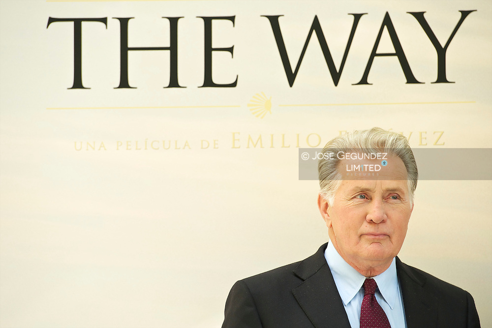 Martin Sheen and Emilio Estevez (director) attend 'The Way (El camino)' Madrid Photocall at Ritz Hotel in Madrid