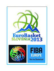 Logo presentation of Eurobasket Slovenia 2013 during final basketball game between National basketball teams of Spain and France at FIBA Europe Eurobasket Lithuania 2011, on September 18, 2011, in Arena Zalgirio, Kaunas, Lithuania.