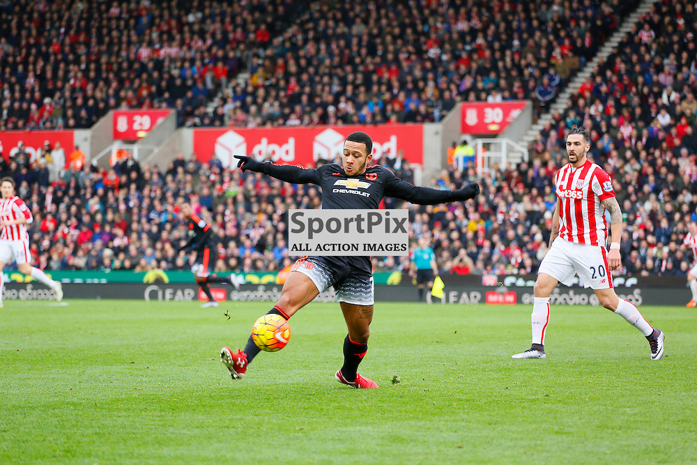 Memphis Depay during Stoke City v Manchester United, Barclays Premier League, Saturday 26th December 2015, Britannia Stadium, Stoke