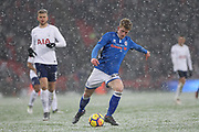 Andy Cannon shoots during the The FA Cup match between Tottenham Hotspur and Rochdale at Wembley Stadium, London, England on 28 February 2018. Picture by Daniel Youngs.