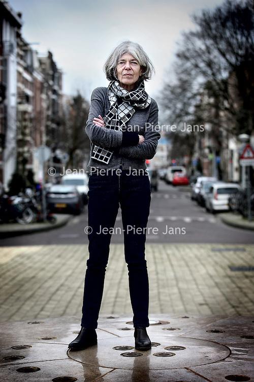 Nederland, Amsterdam , 4 februari 2014.<br /> De Nederlandse dichteres en prozaschrijfster Anna Enquist, pseudoniem van Christa Widlund-Broer<br /> <br /> Foto:Jean-Pierre Jans