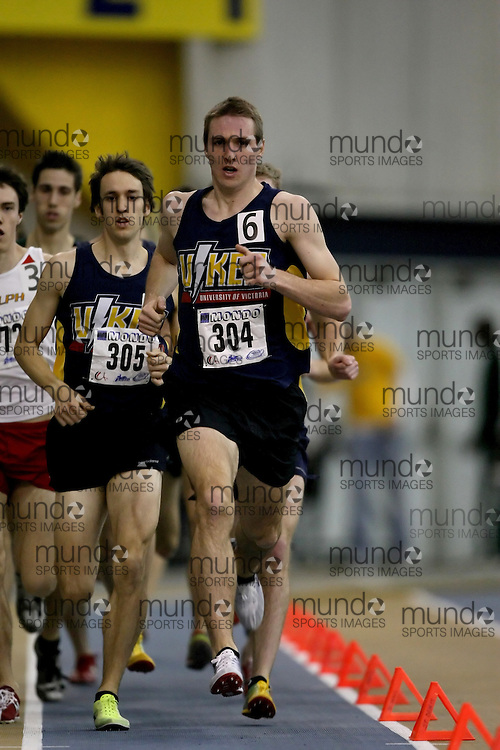 Windsor, Ontario ---14/03/09--- Johannes Mallie of  the University of Victoria competes in the Men's 1500m Final at the CIS track and field championships in Windsor, Ontario, March 14, 2009..Sean Burges Mundo Sport Images