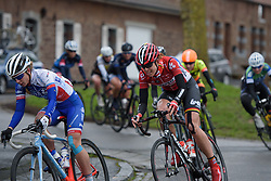 Isabelle Beckers (Lotto Soudal) at the 112.8 km Le Samyn des Dames on March 1st 2017, from Quaregnon to Dour, Belgium. (Photo by Sean Robinson/Velofocus)