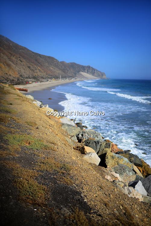 Coast of Malibu, California.