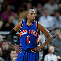 17 December 2009: New York Knicks guard Chris Duhon is seen during the Chicago Bulls 98-89 victory over the New York Knicks at the United Center, in Chicago, Illinois, USA.