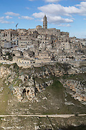 a view of Sassi di Matera from the opposite side.