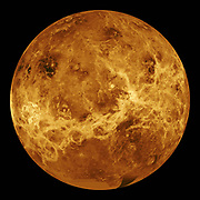 Computer Simulated Global View of Venus