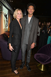CHARLIE CASELY-HAYFORD and SOPHIE ASHBY at a party hosted by Christian Lacroix partnered with Supa Model Management to celebrate London Men's Collections January 2015, held at the Rumpus Room, the roof top bar at the top of the Mondrian London, 20 Upper Ground, London SE1 on 12th January 2015.