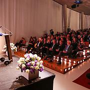 NLD/Rotterdam/20130209 - De Franse modeontwerper Jean Paul Gaultier opent zijn tentoonstelling in de Kunsthal Rotterdam, toespraak wethouder Alexandra C. van Huffelen