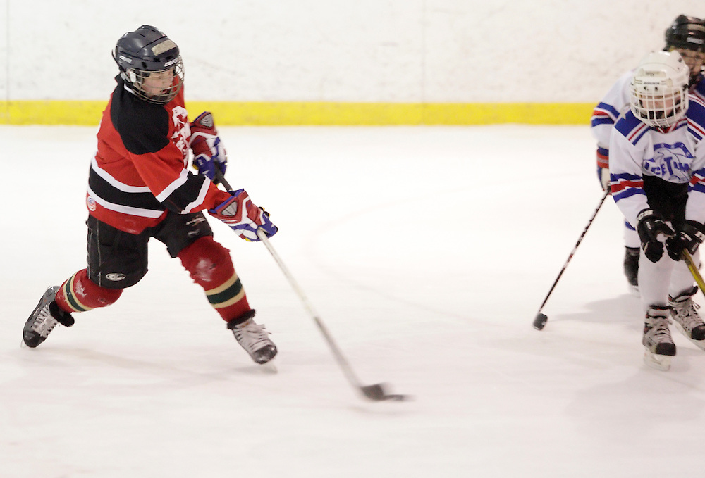 Newburgh, New York -  The Ice Time Devils play in the Shamrock Shootout at Ice Time Sports Complex on March 20, 2011.