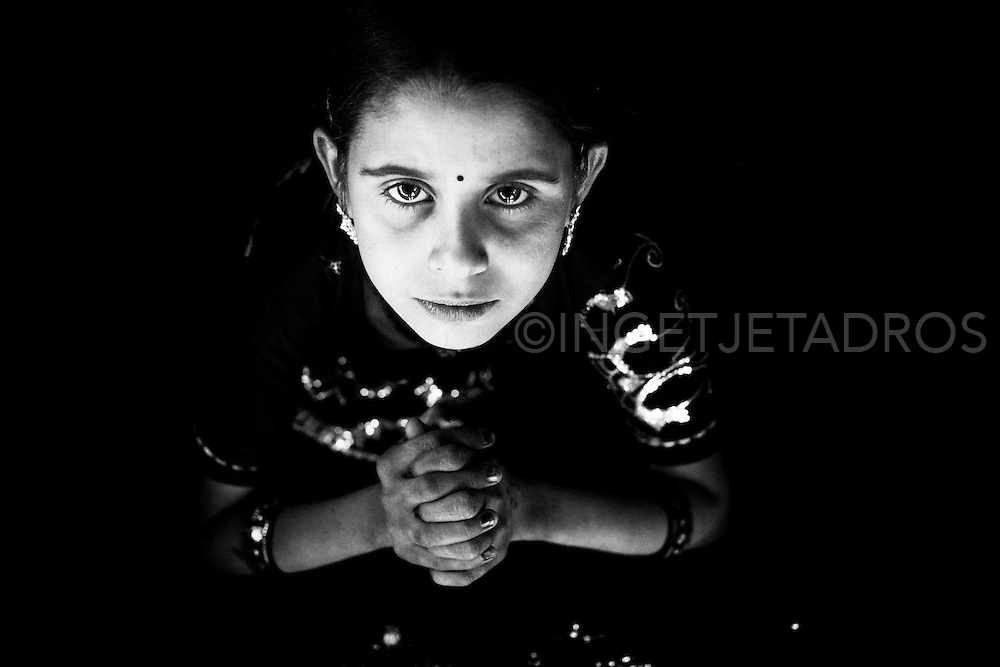 Portrait of Indian girl.<br />