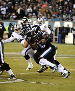Dec 25, 2017; Philadelphia, PA, USA; Philadelphia Eagles running back Jay Ajayi (36) during a NFL football game at Lincoln Financial Field. The Eagles defeated the Raiders 19-10. Photo by Reuben Canales