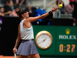 May 16, 2019 - Rome, ITALY - Marketa Vondrousova of the Czech Republic in action during her second-round match at the 2019 Internazionali BNL d'Italia WTA Premier 5 tennis tournament (Credit Image: © AFP7 via ZUMA Wire)