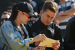 October 28, 2017 - Shanghai, China - Michal Kwiatkowski (POL) from Team SKY  signs an autograph to a fan, during the 1st TDF Shanghai Criterium 2017 - Media Day..On Saturday, 28 October 2017, in Shanghai, China. (Credit Image: © Artur Widak/NurPhoto via ZUMA Press)