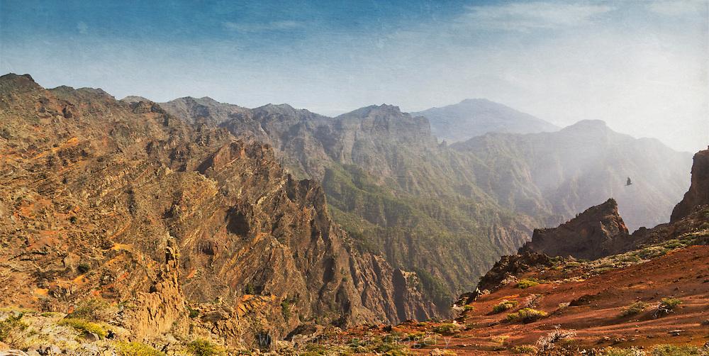 View of Caldera de Taburiente, La Palma, Canary Islands