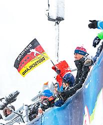 09.12.2017, Biathlonarena, Hochfilzen, AUT, IBU Weltcup Biathlon, Hochfilzen, Herren, Verfolgung, im Bild Deutsche Biathlon Fans // Biathlon Fans of Germany // during men' s Pursuit of BMW IBU Biathlon World Cup at the Biathlonarena in Hochfilzen, Austria on 2017/12/09. EXPA Pictures © 2017, PhotoCredit: EXPA/ Stefanie Oberhauser