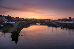 ©Licensed to London News Pictures. 19/04/2019. Aberystwyth, UK. Good Friday. Dawn breaks over the harbour and marina in Aberystwyth on the west wales coast at the start of what promises to be a glorious Good Friday, as the country looks forward to the long Easter Bank Holiday weekend. Temperatures in Aberystwyth are expected to peak in the low 70's Fahrenheit today, making it hotter than many places in continental  Europe.<br /> Photo credit : Keith Morris/LNP
